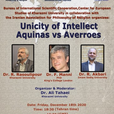 Unicity of intellect; Aquinas vs Averroes